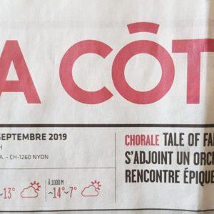 Tale of Fantasy dans le journal La Côte!